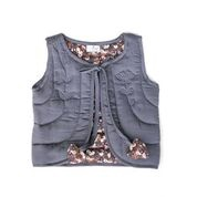 INK AND FLOWER FIELDS QUILTED VEST