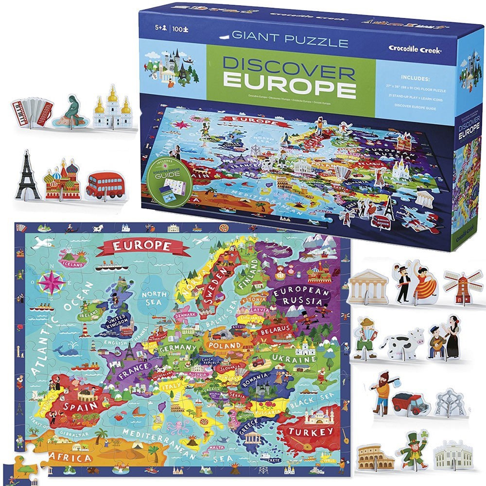 DISCOVER EUROPE PUZZLE AND PLAY