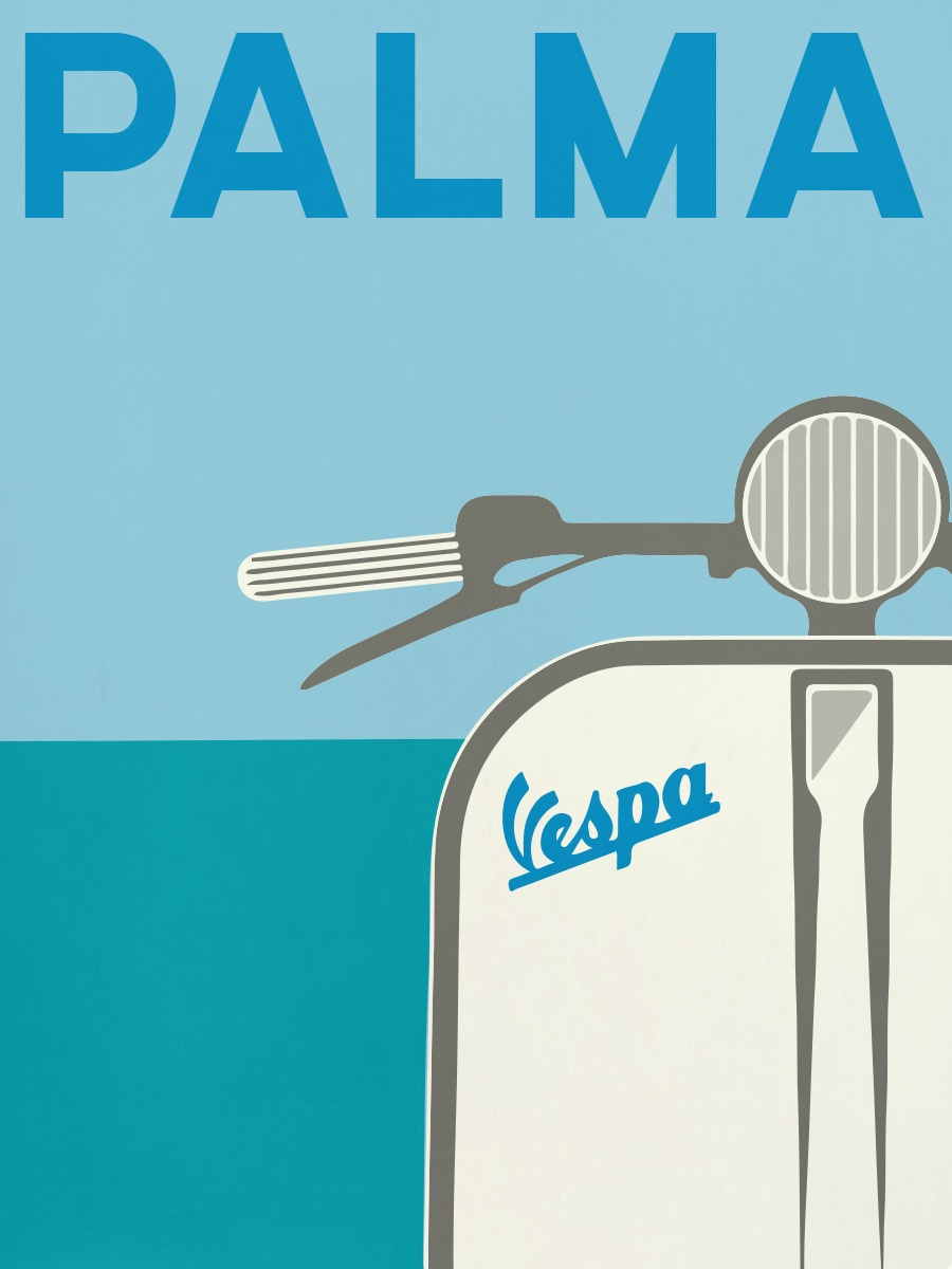 Palma Vespa Illustration