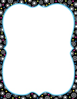 CTP 1005 BW COLLECTION POLKA DOT PARTY BLANK CHART
