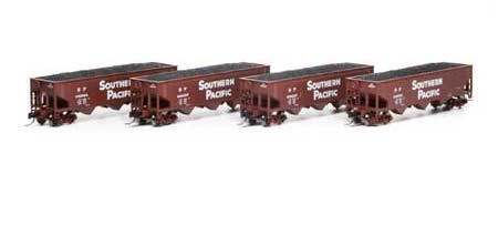 Athearn #ATH5125 N 40' 3 Bay Offset Hopper 4 Pack