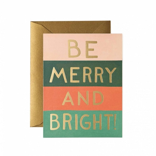Be Merry and Bright Color Block Card