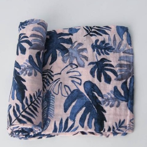 Cotton Muslin Swaddle | Tropical Pink