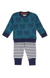Cheetah baby sweatshirt and stripe leggings set