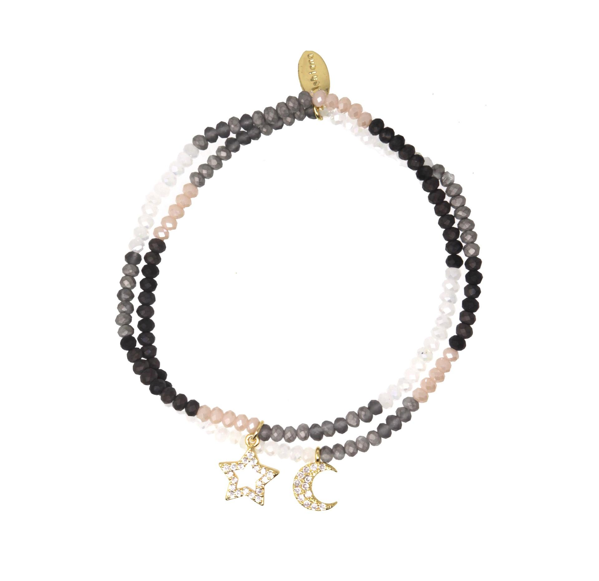 Star and Moon Charm Bracelet by Ashiana London