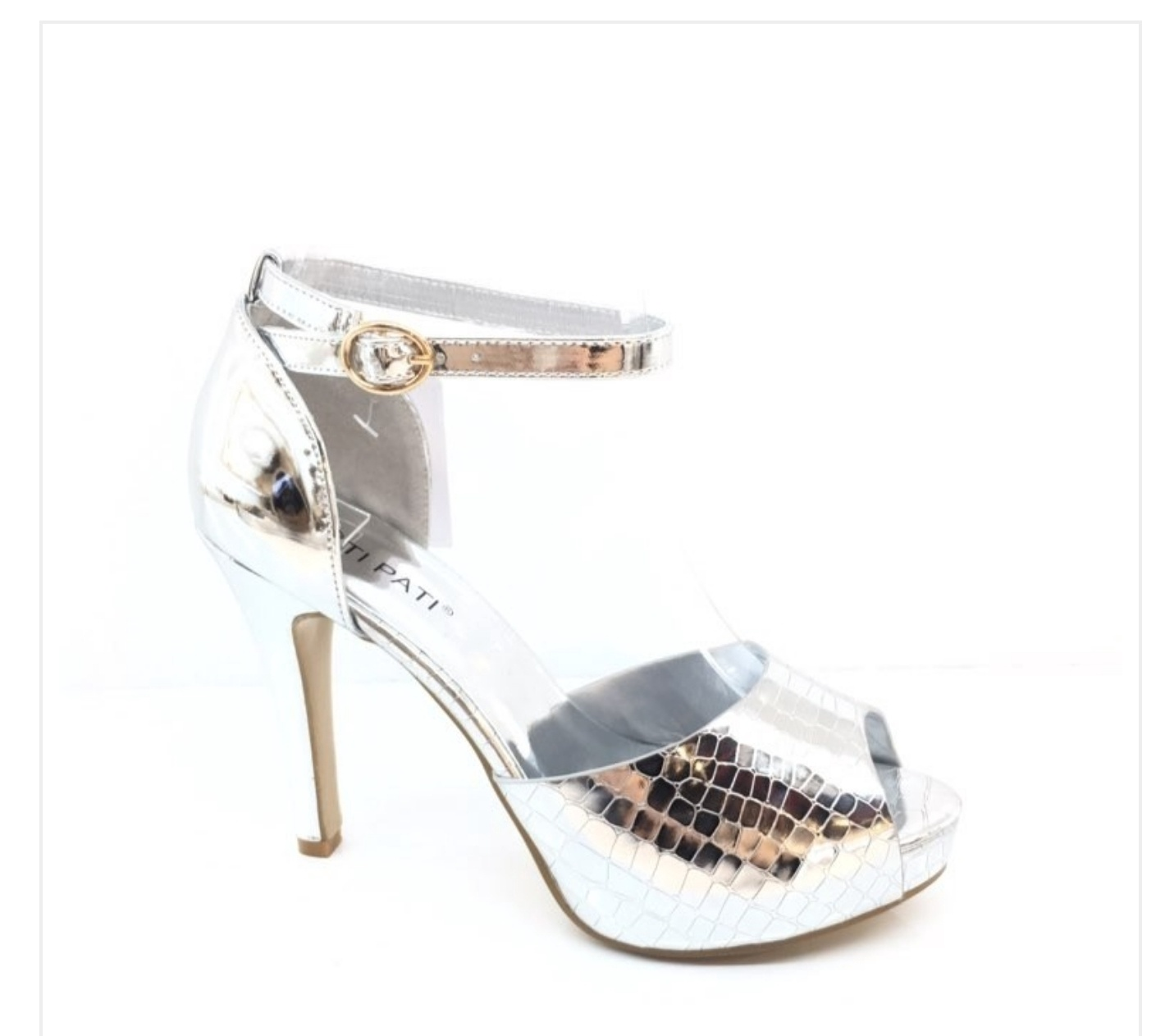 Stunning silver sandal shoes