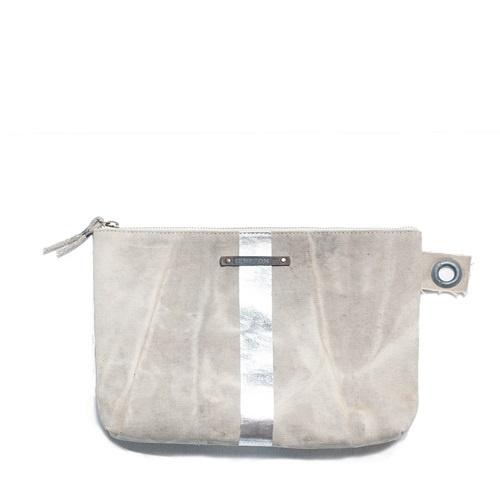 Postal Silver Stripe Pouch