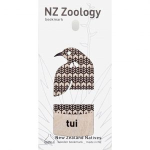 Wood Printed Bookmark Tui