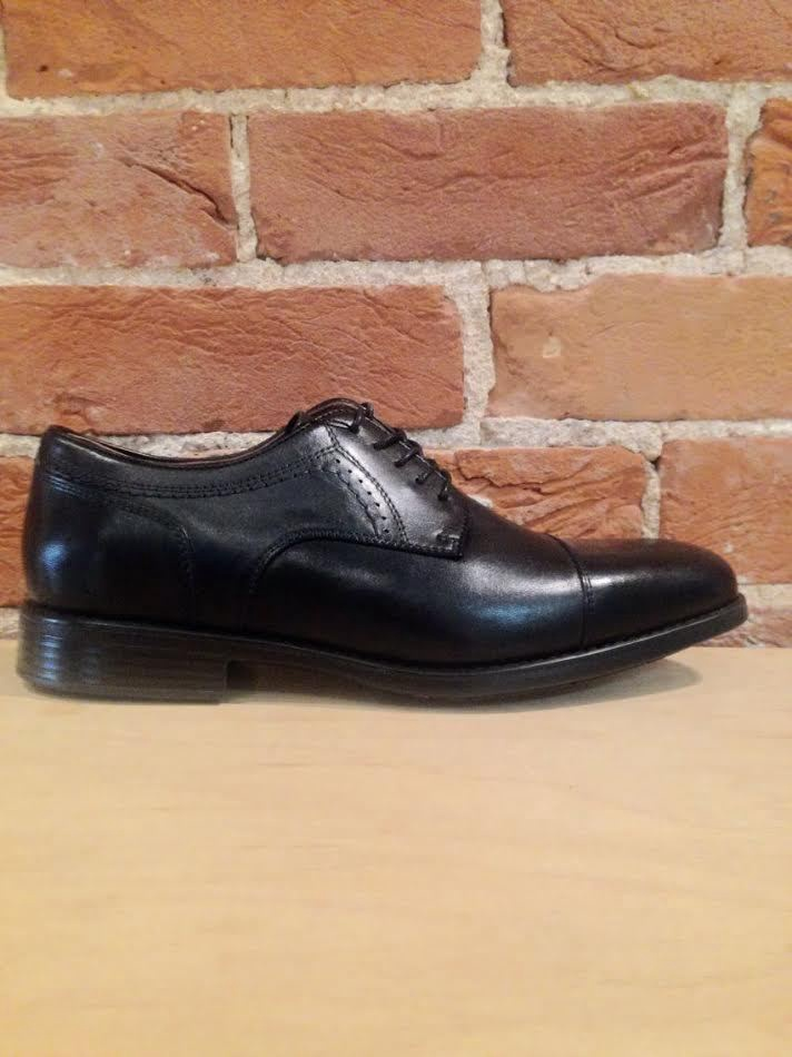 JOHNSTON & MURPHY - BRANNING CAP TOE IN BLACK