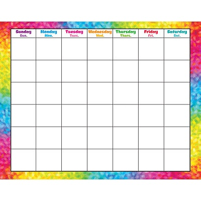 T 27011 COLORFUL BRUSH STROKES WIPE OFF CALENDAR