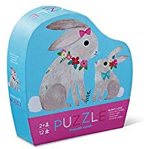 MINI PUZZLE BUNNY LOVE 12 PCS