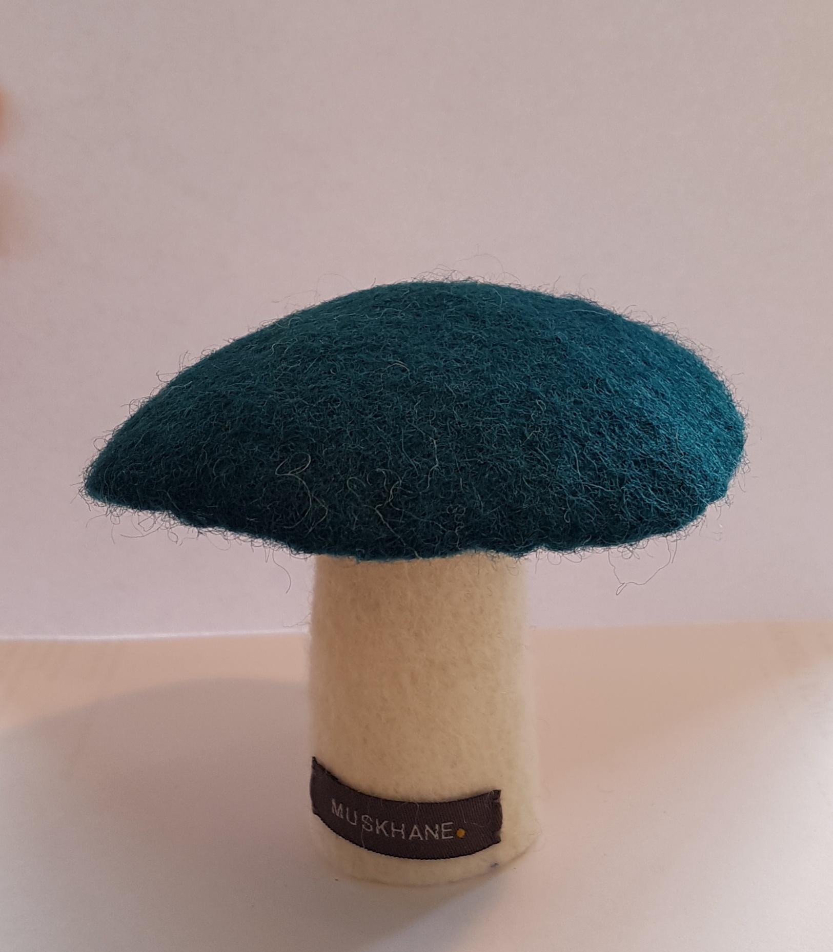 FELT MUSHROOM LARGE - DUCK BLUE