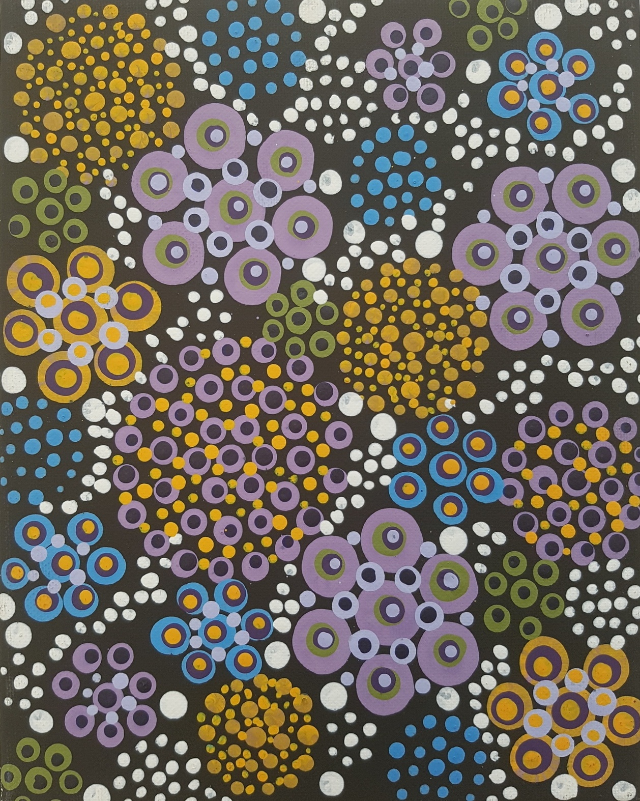 3D dot painting: Flowers in my garden