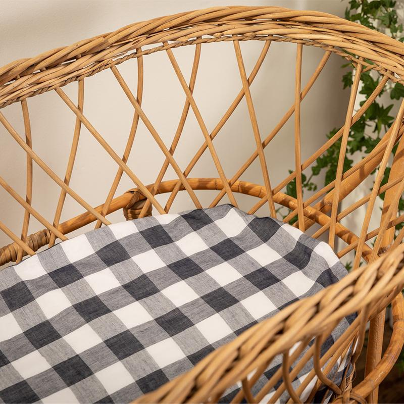 EDDY&MOSS FITTED SHEET - GINGHAM NAVY