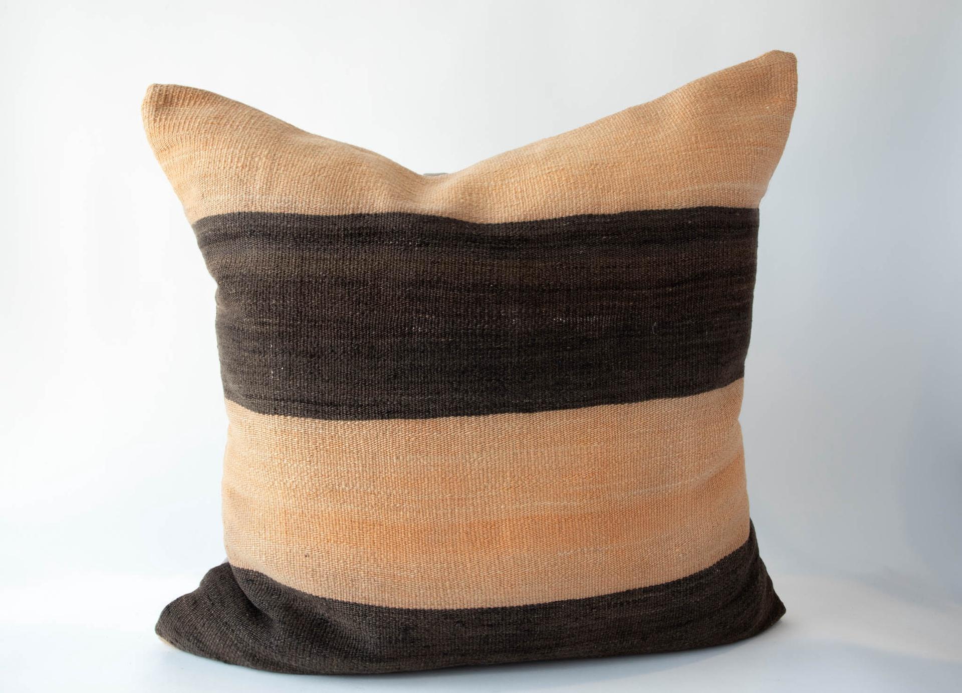 Vintage Orange Stripe Pillow