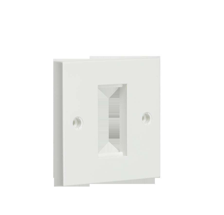 1G White Modular Faceplate