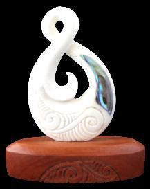 Bone Single Twist Wood Base