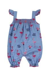 Shortie dungaree flamingo