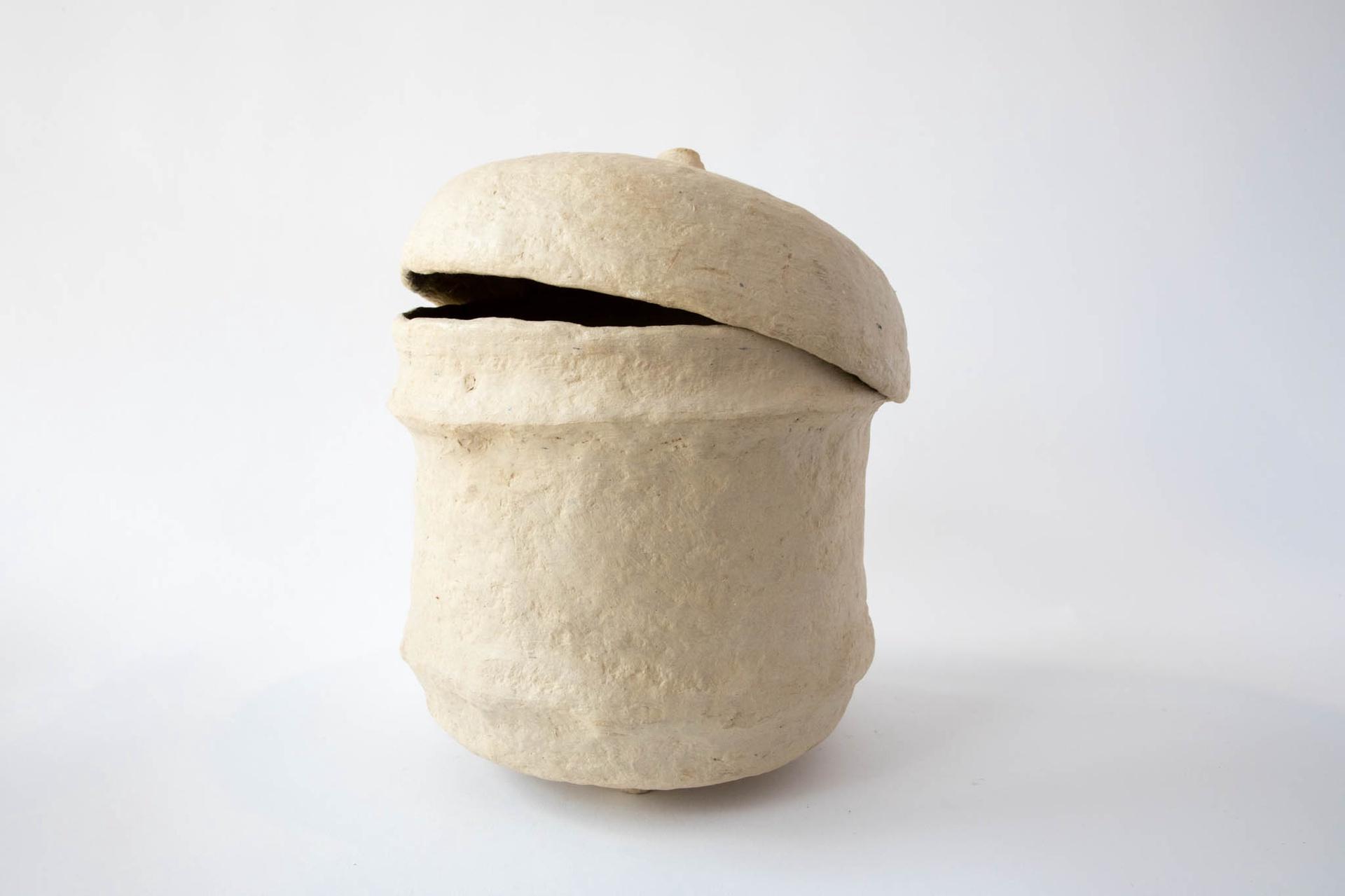 Paper Mache Pot w/Lid