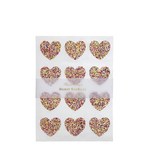 Glitter Heart Sticker Sheets