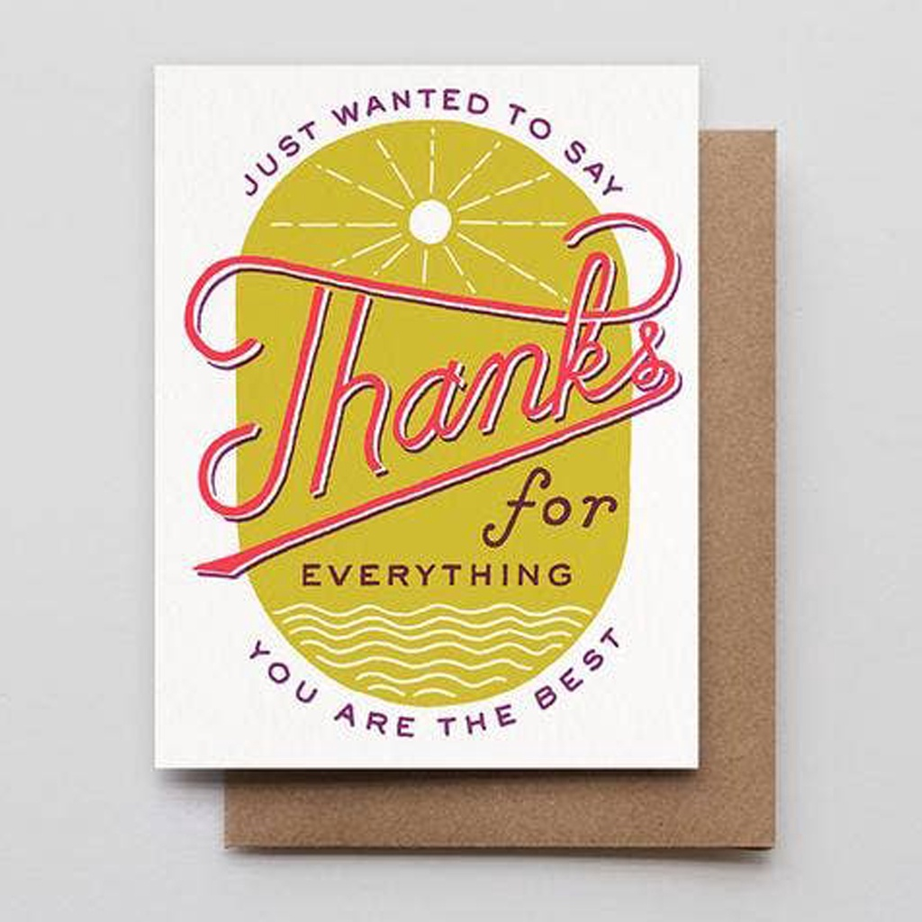 Sun & Sea Thanks Card