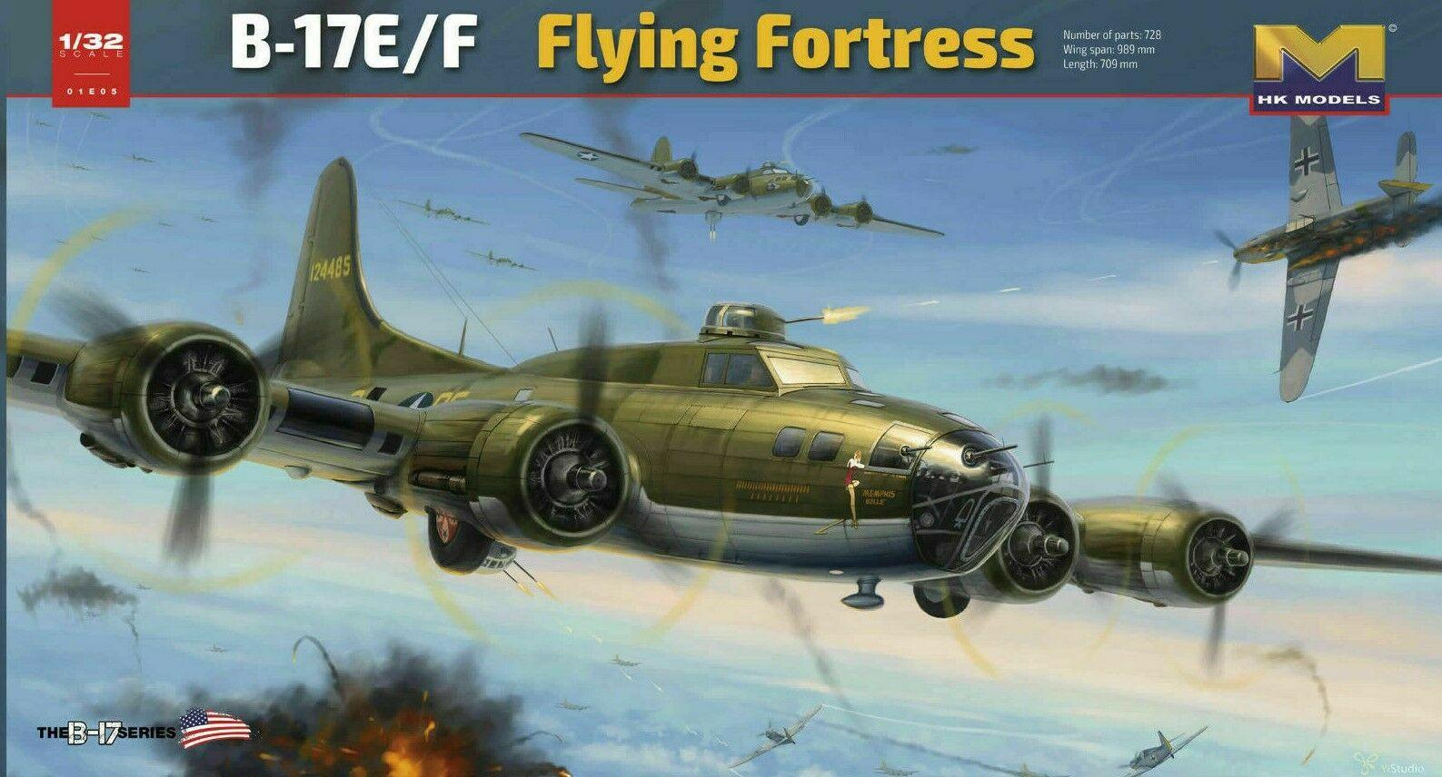 HK Models #01E05 1/32 B-17E/F  (Memphis Belle)