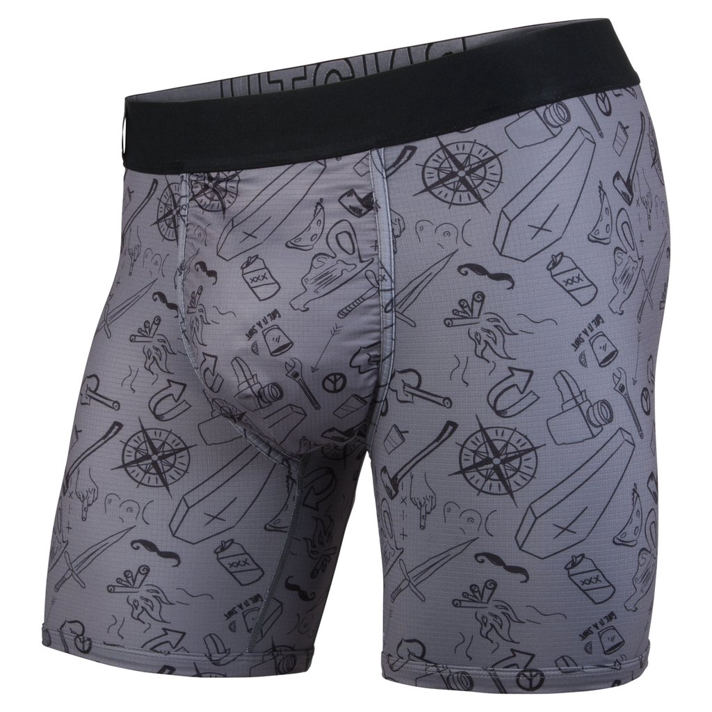 BN3TH - ENTOURAGE BOXER BRIEF IN MORAL COMPASS/CHARCOAL