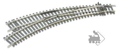 Peco SeTrack #ST-244 Right  Hand Curved Turnout Code 100