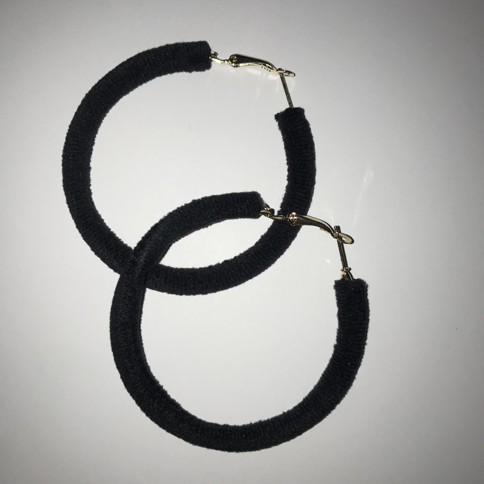 Felt Hoop Earrings