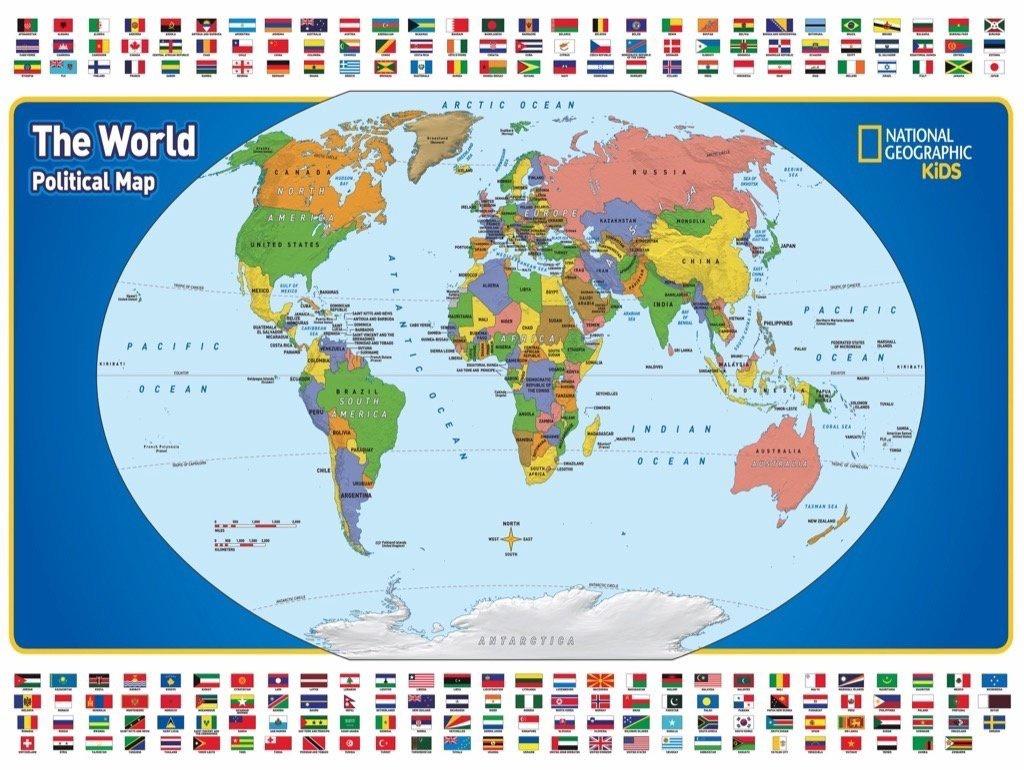 NAT GEO THE WORLD KIDS MAP
