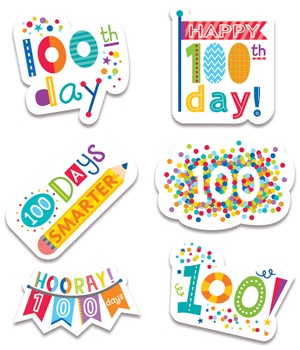 CTP 2111 HAPPY 100TH DAY STICKERS