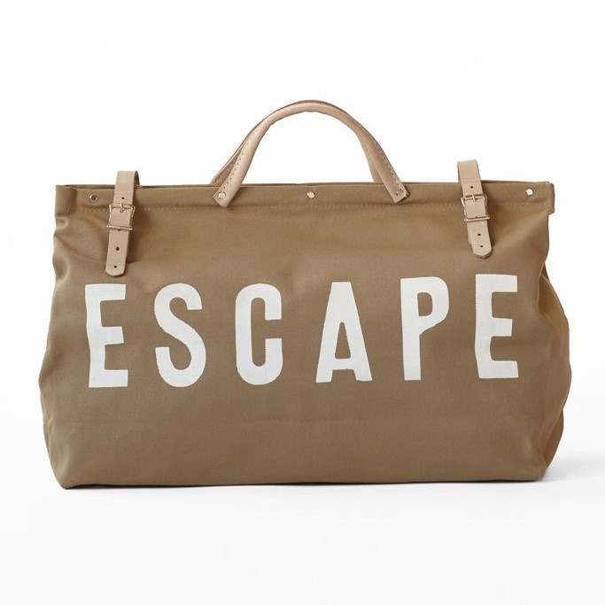 ESCAPE Canvas Utility Bag - Khaki