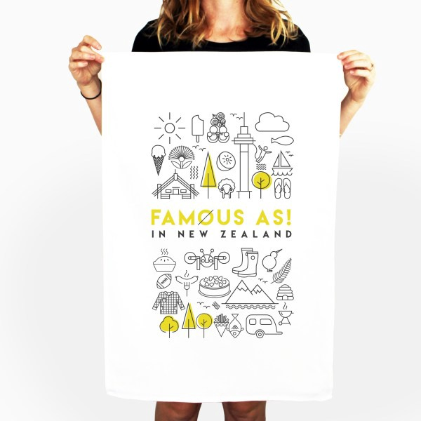 D&Y TEATOWEL- FAMOUSE AS