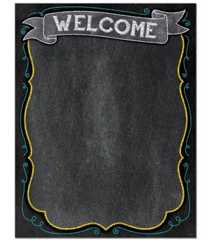 CTP 1018 CHALK WELCOME CHART