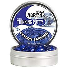 CRAZY AARON'S THINKING PUTTY CEYLON SAPPHIRE PRECIOUS GEMS