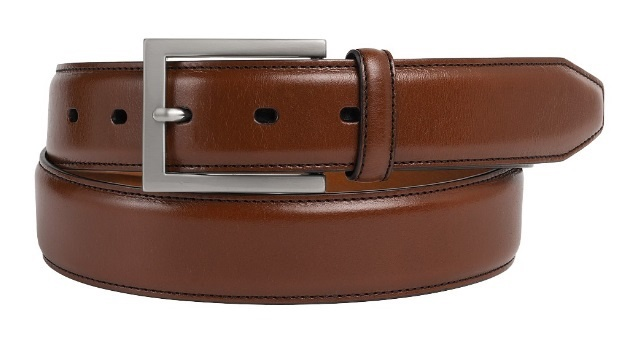 JOHNSTON & MURPHY - DRESS BELT IN COGNAC