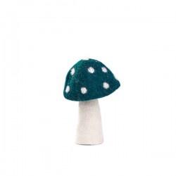 DOTTY MUSHROOM 13CM - DUCK BLUE