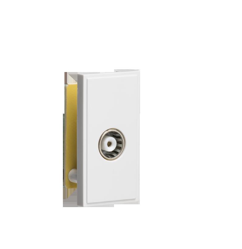 White Modular TV Outlet (PCB)