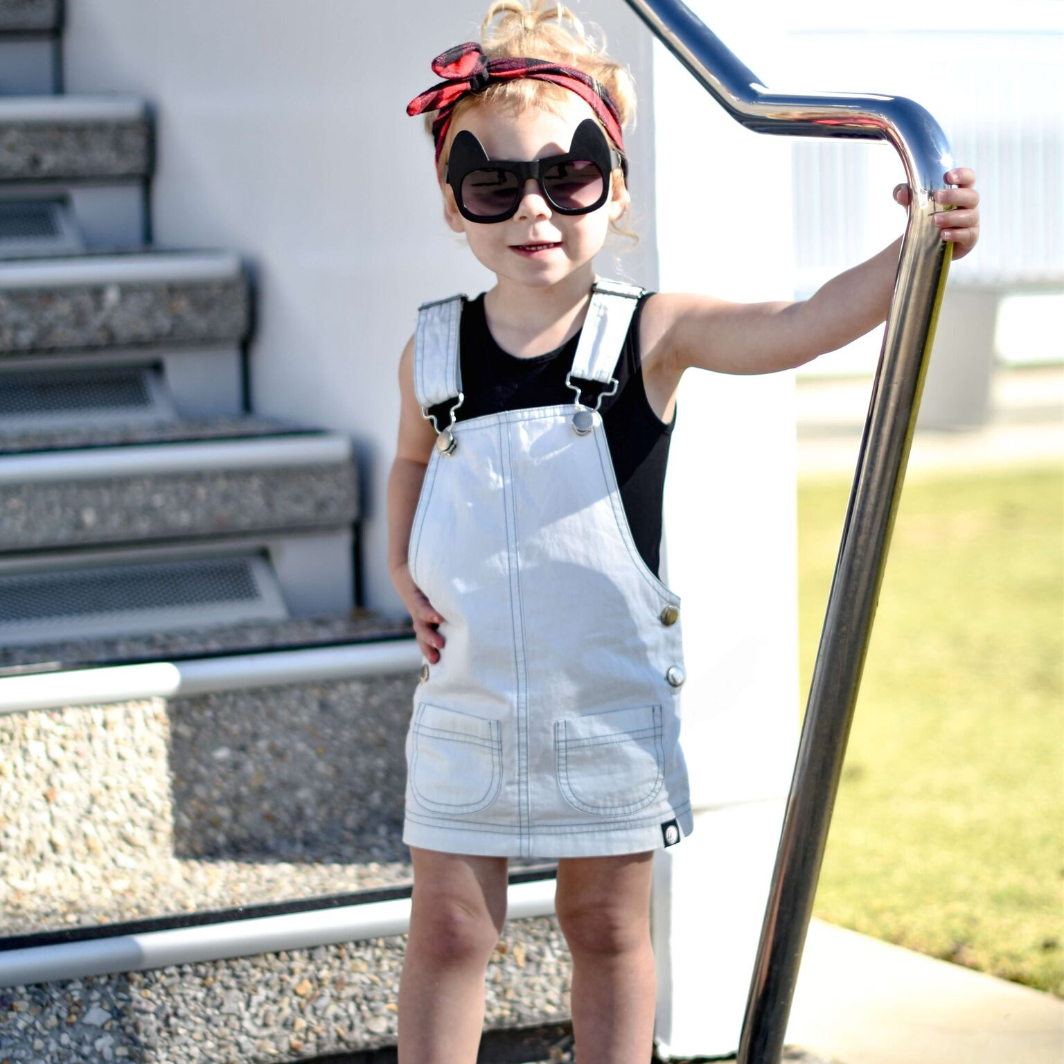 Little Lords Chambray Pinafore