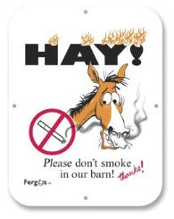 Fergus Stall Sign Please Don't Smoke