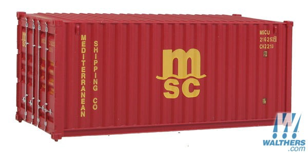 Walthers SceneMaster #949-8059  HO 20' Fully Corrugated Container