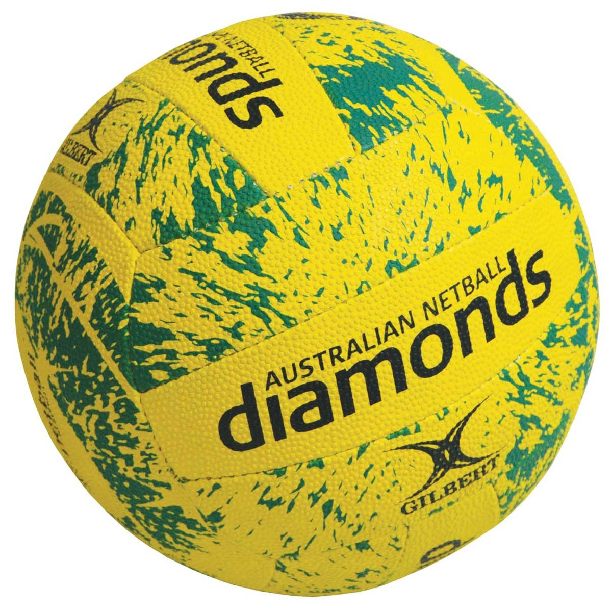 Gilbert Supporter Ball - Diamonds: Yellow & Green (size 5)