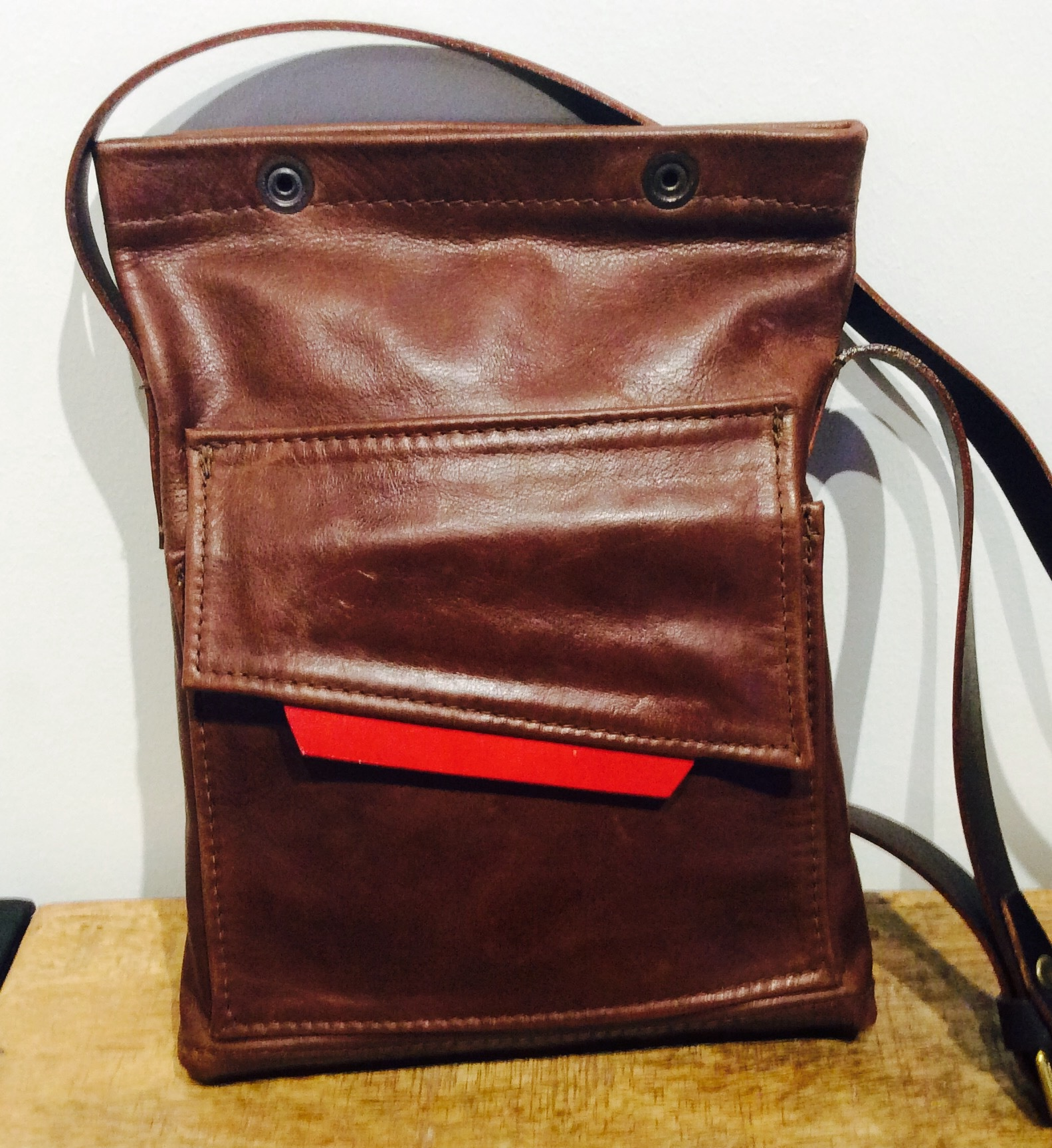 Small Brown Leather Travel Bag