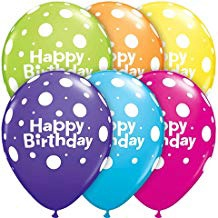 BIRTHDAY BIG POLKA DOTS 11 INCH