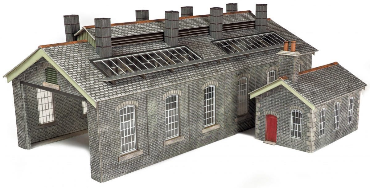 Metcalfe #PO337 OO/HO S&C Style Stone Engine Shed Double Track)