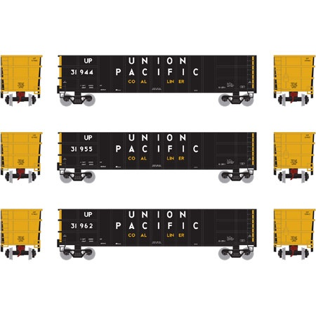 Athearn #ATH27147 50' Thrall High Sided Coal Gondola (3Pack)