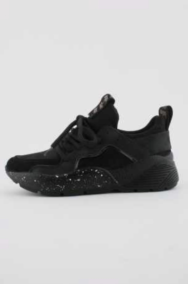 Black Lace Up Trainer 69-12