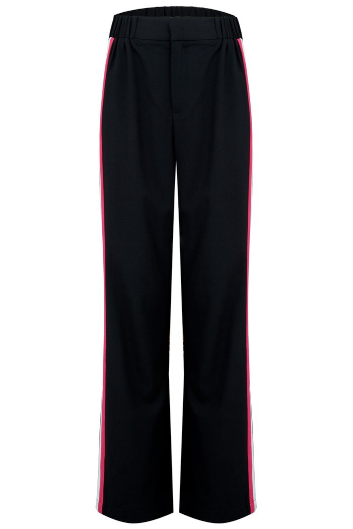 Lara Wide Leg Side Stripe Trouser