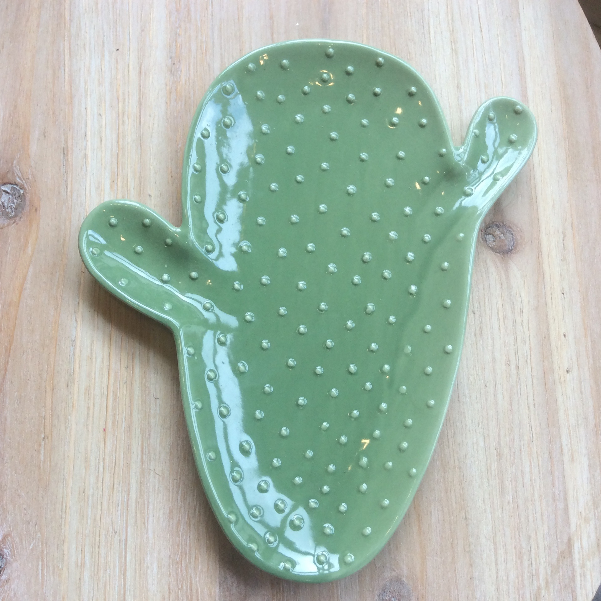 Green Cactus Dish