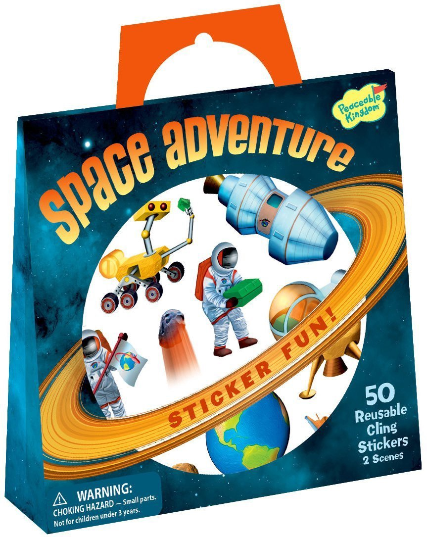 SPACE ADVENTURE STICKER TOTE